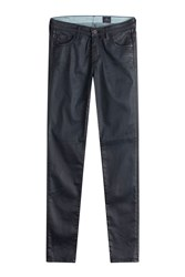 Ag Adriano Goldschmied The Legging Ankle Coated Skinny Jeans Gr. 24