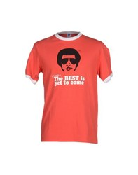 Joe Rivetto Topwear T Shirts Men Red