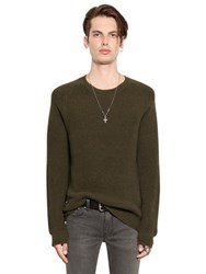 Blk Dnm Cotton Blend Honeycomb Knit Sweater
