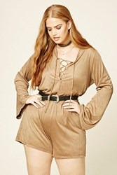 Forever 21 Plus Size Faux Suede Romper