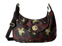 Baggallini Gold Oslo Small Hobo Scarlet Cheetah Hobo Handbags Brown