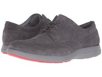 Cole Haan Grand Tour Wing Oxford Pavement Suede Ironstone Men's Lace Up Casual Shoes Brown