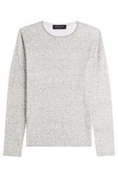 Rag And Bone Rag And Bone Layered Cotton Top With Wool Grey