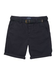 Criminal Travis Cotton Chino Shorts Navy