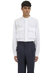 E.Tautz Bulmer Oversized Patch Pocket Shirt White