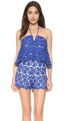 J.O.A. Lace Romper Royal Blue
