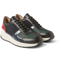 Tim Coppens Common Projects Leather And Mesh Sneakers