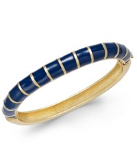 Charter Club Erwin Pearl Atelier For Gold Tone Striped Hinged Bangle Bracelet Only At Macy's Navy