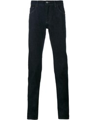 Dolce And Gabbana Crown Bee Embroidered Raw Jeans Dark Blue Copper Grey