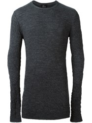 Lost And Found Ria Dunn Thermal Sweater Grey