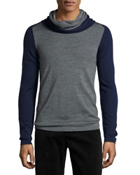 Antony Morato Colorblock Cowl Neck Sweater Gray Navy Black