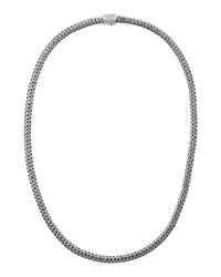 Classic Chain And Pave Diamond Necklace John Hardy Silver