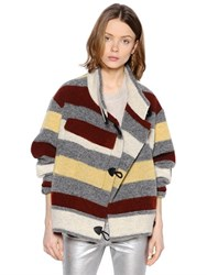 Etoile Isabel Marant Striped Boiled Wool Blend Jacket