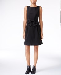 Maison Jules Bow Detail Fit And Flare Dress Only At Macy's Deep Black
