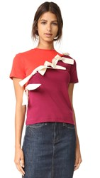 Jacquemus S S Lace Up Tee Red