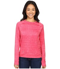Spyder Blayze Top Punch Washed Print Women's Long Sleeve Pullover Pink