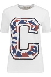 Etre Cecile Big C Printed Cotton Jersey T Shirt White