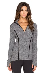 Beyond Yoga Space Dye Lattice Half Zip Pullover Gray