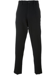 Giorgio Armani Elastic Waistband Loose Fit Trousers Black