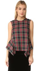 Petersyn Cricket Sleeveless Top Black Plaid
