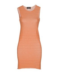 Fabrizio Del Carlo Short Dresses Orange