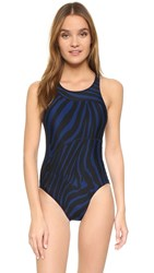 Adidas By Stella Mccartney Performance Swimsuit Dark Blue Black