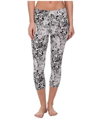 Hue Lace Printed Cotton Capri Black Women's Capri