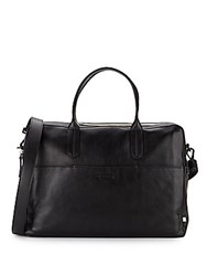 Ben Minkoff Fulton Leather Briefcase Black