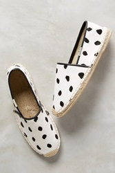 Soludos Polka Dot Espadrilles Black And White