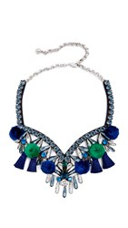 Shourouk Tahia Necklace Blue