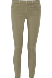 J Brand Brushed Twill Skinny Pants Army Green