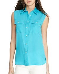 Ralph Lauren Sleeveless Shirt Turquoise