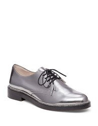 Vince Camuto Ciana Leather Oxfords Silver