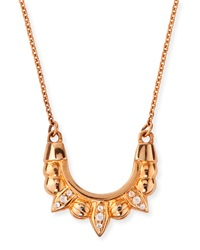 Pamela Love Rose Gold Plated Mini Tribal Spike Necklace