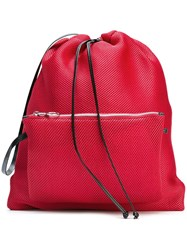 Maison Martin Margiela Mm6 Perforated Mesh Backpack Red