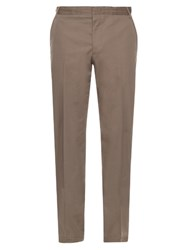 Lanvin Slim Leg Cotton Chino Trousers Grey
