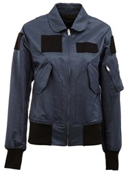 Yang Li Patch Detail Bomber Jacket Blue