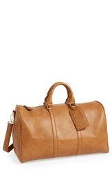 Sole Society 'Cassidy' Duffel Bag Brown Cognac