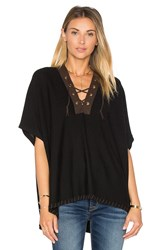 525 America Lace Front Poncho Black