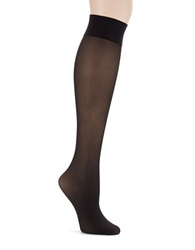 Hue Revitalizing Opaque Knee Hi Socks Black