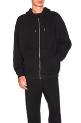 Alexander Wang Oversized Fleece Hoodie In Black