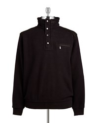 Bugatti Quarter Zip Pullover Sweater Black