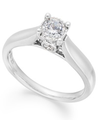 Trumiracle Diamond Solitaire Ring In 14K White Gold 1 2 Ct. T.W.