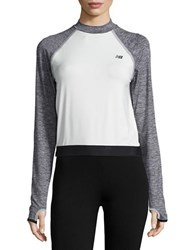 New Balance Cropped Athletic Top Aga
