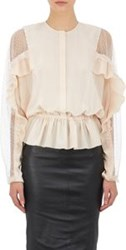 Givenchy Peplum Blouse Colorless