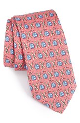 Vineyard Vines Men's Gondola And Skis Silk Tie Raspberry