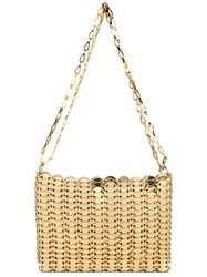 Paco Rabanne Iconic Chain Shoulder Bag Metallic
