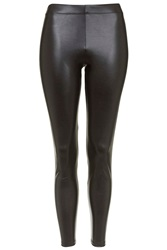 Topshop Petite Wet Look Leggings Black