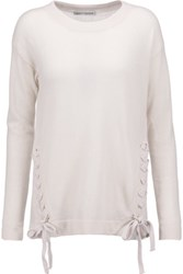 Autumn Cashmere Lace Up Sweater Off White