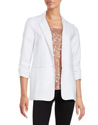 Michael Michael Kors Linen On Button Blazer White